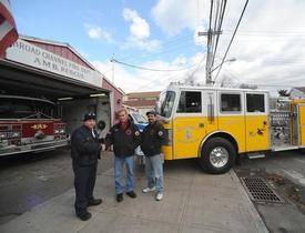 2nd Assistant Chief Korzelius & Captain Romero of Sleepy Hollow FD  Deputy Chief of the Broad Channel FD